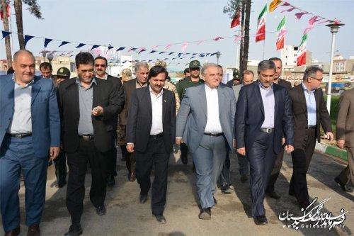 افتتاح وگلنگ زنی   142پروژه  فرهنگی ، عمرانی ، تولیدی و اشتغالزا  درشهرستان گنبد