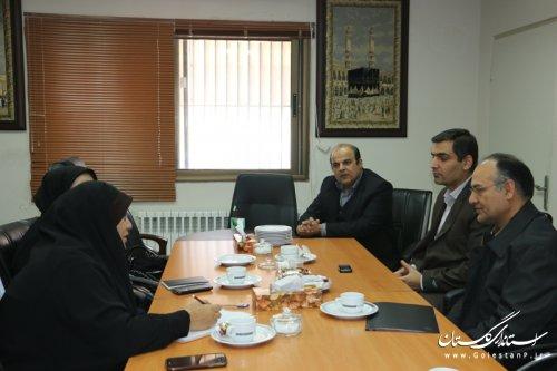 بازدید اداره کل اموراجتماعی وفرهنگی استانداری از بیمارستان پنج آذر گرگان