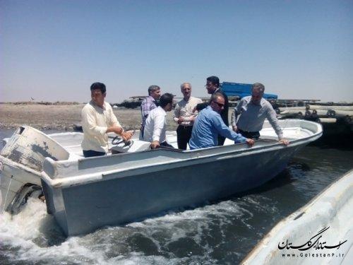 بازدید هیات بازرسی  سواحل وزارت کشور از سواحل استان گلستان
