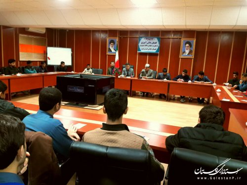 برگزاری اولین برنامه گفتمان دانش آموزی  با محوریت چهلمین سالگرد پیروزی شکوهمند انقلاب اسلامی ایران