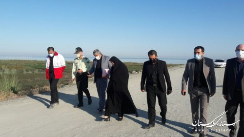بازدیدکارشناسان وزارت کشور واستانداری به منظور بررسی مشكلات موجود در سواحل استان
