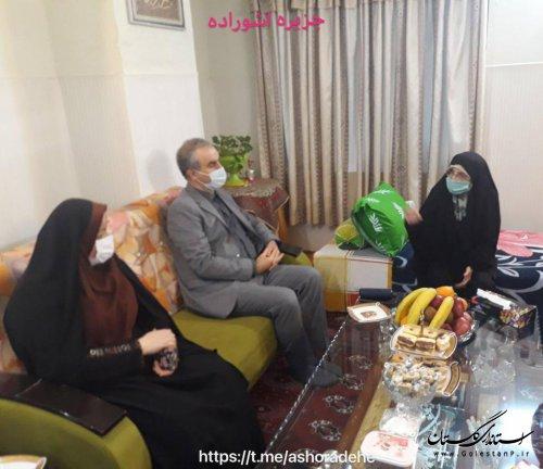 نشست صمیمی معاون سیاسی ،امنیتی واجتماعی بارئیس انجمن زنان مسلمان نو اندیش گلستان