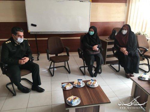 بازدید مدیرکل امور اجتماعی وفرهنگي از مرکز مشاوره آرامش نیروی انتظامی استان