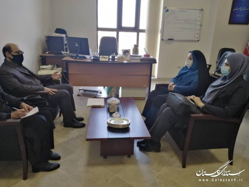 دیدار مدیر عامل شرکت آب منطقه ای گلستان با مدیرکل اموراجتماعی و فرهنگی استانداری