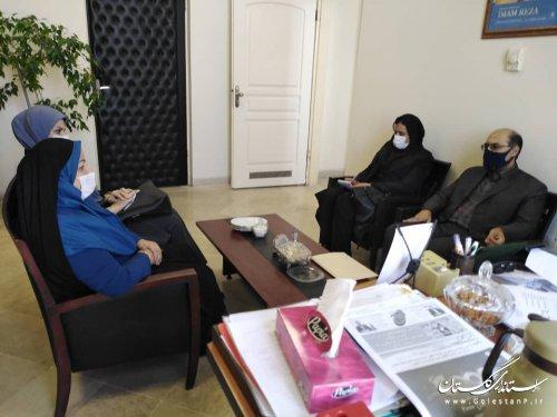 دیدارمدیر عامل محترم آب منطقه ایی گلستان با مدیرکل اموراجتماعی و فرهنگی