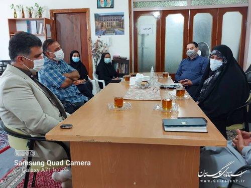 بازدید معاون اداره کل امور اجتماعی وفرهنگي استانداری گلستان از فعالیت دفتر تسهیلگری