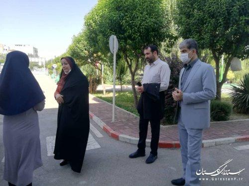 بازدید مدیر کل امور اجتماعی وفرهنگی استانداری از مجموعه فرهنگی آموزشی ترافیک گرگان