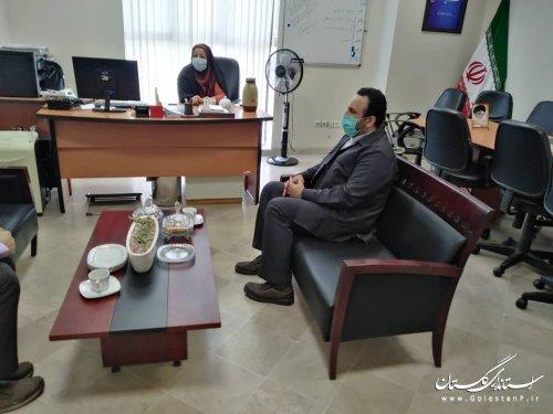 دیدار دبیر ستاداحیاء امر به معروف ونهی از منکر با مدیرکل امور اجتماعی وفرهنگی
